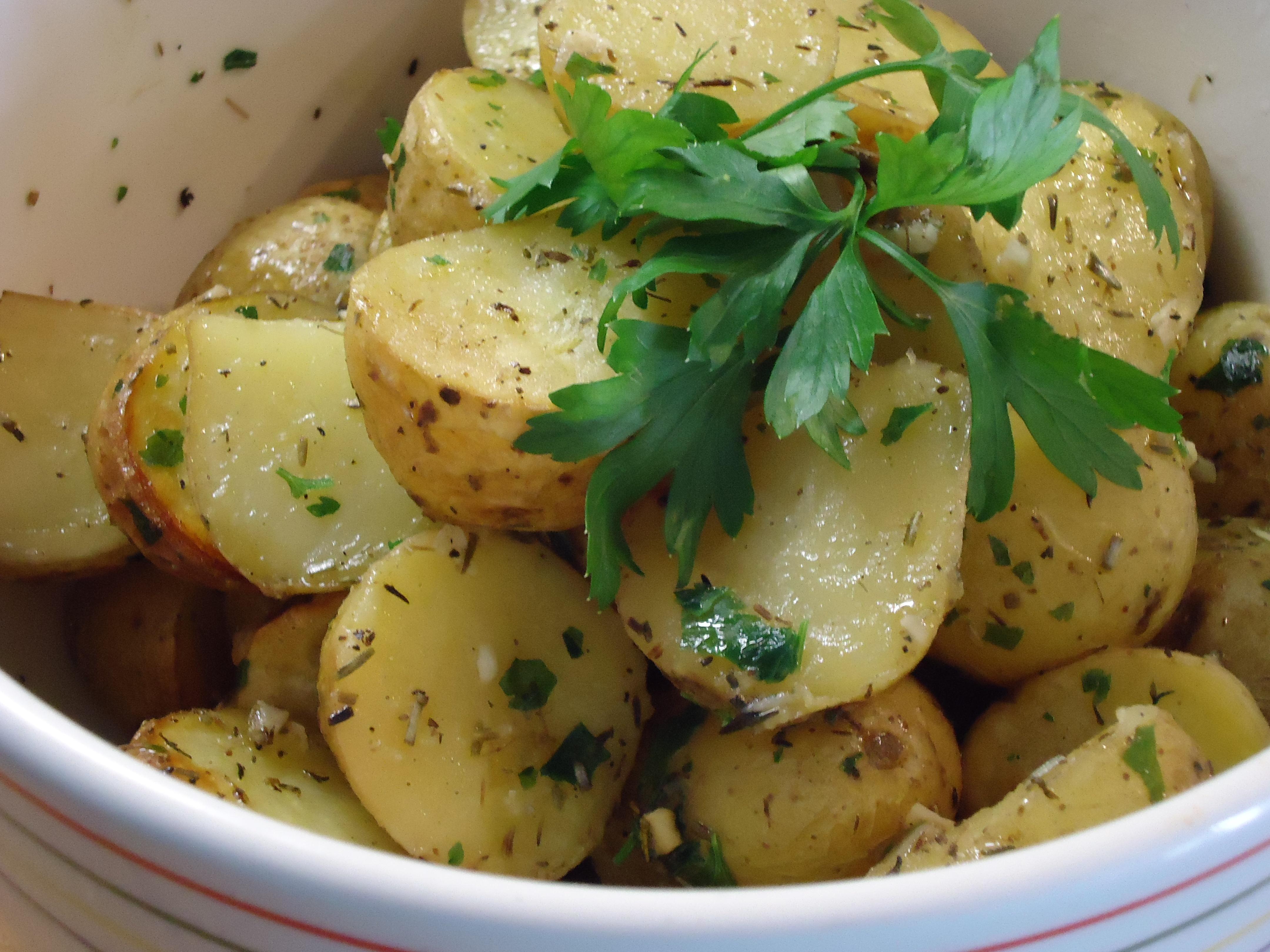 Patatas de guarnici n con el delantal de rayas - Guarniciones para carne en salsa ...