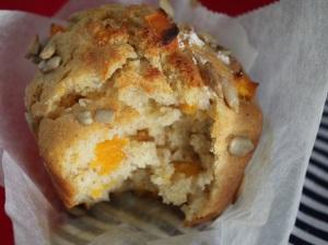 Riquísimos muffins de calabaza y romero