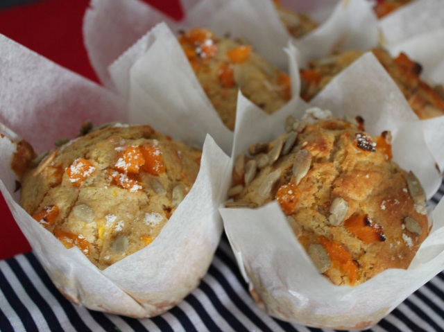 Muffins de calabaza y romero