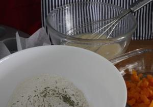 Ingredientes de los muffins de calabaza y romero