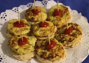 Tortilla de patatas y calabacin