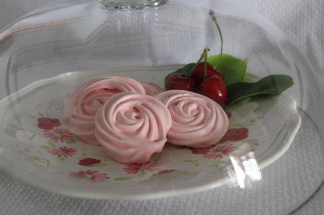 Rosas rosas de merengue