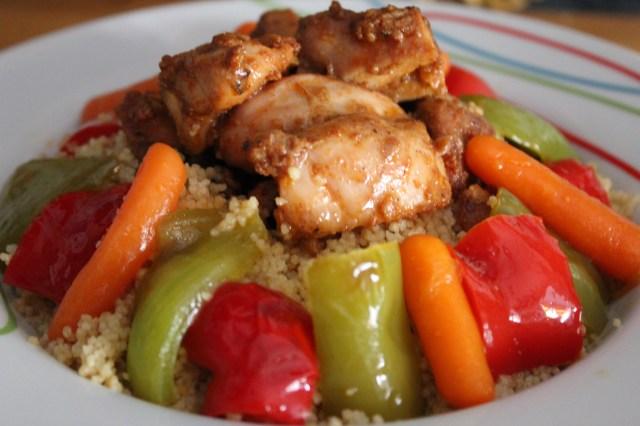 Cuscús con pollo y verduras 1