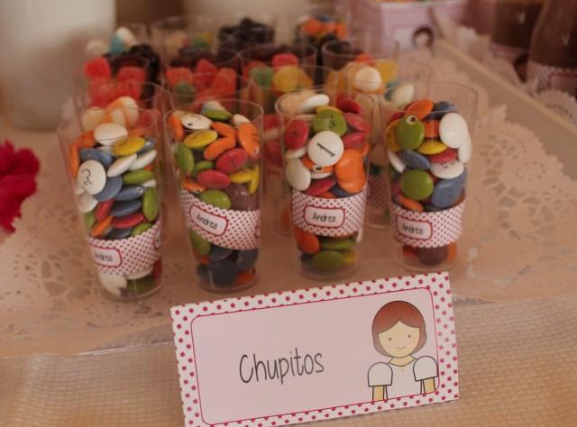 Mesa dulce, Chupitos de chuches