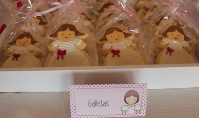 Galletas decorado primera cominión niña